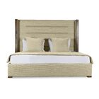 Hank Upholstered Panel Bed Size: High Height King, Color: Sand