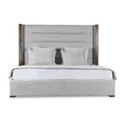 Hank Upholstered Panel Bed Size: High Height Queen, Color: White