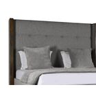 Hank Upholstered Platform Bed Color: Gray, Size: High Height Queen