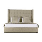 Half Moon Bay Upholstered Panel Bed Size: Mid Height Queen, Color: Sand