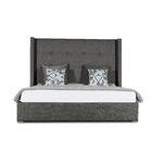Hansen Upholstered Platform Bed Color: Charcoal, Size: Mid Height Queen