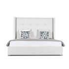 Hansen Upholstered Platform Bed Size: High Height Queen, Color: White
