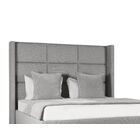 Hansen Upholstered Panel Bed Color: Gray, Size: High Height Queen