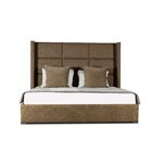 Hansen Upholstered Panel Bed Color: Brown, Size: Mid Height Queen