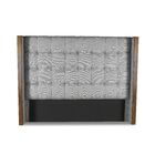 Hank Box Tufting Upholstered Wingback Headboard Color: Gray, Size: High Height California King