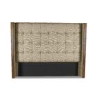 Hank Box Tufting Upholstered Wingback Headboard Size: High Height King, Color: Sand
