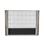 Hank Box Tufting Upholstered Wingback Headboard Size: Mid Height California King, Color: White