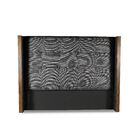 Hank Button Tufted Upholstered Wingback Headboard Color: Charcoal, Size: High Height California King