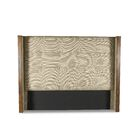 Hank Button Tufted Upholstered Wingback Headboard Size: Mid Height King, Color: Sand
