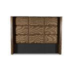 Hank Square Tufted Upholstered Wingback Headboard Color: Brown, Size: High Height California King