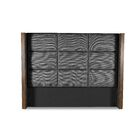 Hank Square Tufted Upholstered Wingback Headboard Color: Charcoal, Size: High Height King