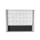 Esters Winged Box Tufting Upholstered Wingback Headboard Size: High Height California King, Color: White
