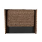 Hansen Horizontal Channel Tufting Upholstered Wingback Headboard Color: Brown, Size: High Height California King