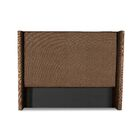 Hansen Plain Upholstered Wingback Headboard Color: Brown, Size: High Height King