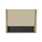 Hansen Plain Upholstered Wingback Headboard Size: High Height Queen, Color: Sand