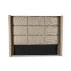 Hansen Square Tufted Upholstered Wingback Headboard Size: Mid Height Queen, Color: Sand
