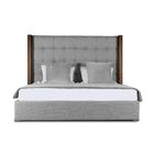Harborcreek Upholstered Panel Bed Color: Gray, Size: Mid Height King