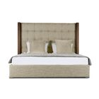 Harborcreek Upholstered Panel Bed Size: Mid Height Queen, Color: Sand