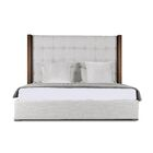 Harborcreek Upholstered Panel Bed Size: High Height California King, Color: White