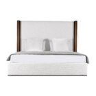Harborcreek Plain Upholstered Panel Bed Size: High Height King, Color: White
