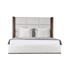 Harborcreek Upholstered Platform Bed Size: High Height California King, Color: White