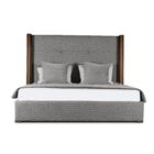 Harborcreek Upholstered Platform Bed Color: Gray, Size: Mid Height California King