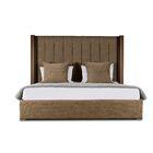 Harborcreek Upholstered Platform Bed Color: Brown, Size: High Height California King