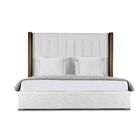 Harborcreek Upholstered Platform Bed Size: Mid Height Queen, Color: White