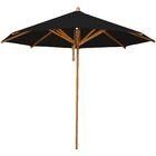 Levante 8.5' Market Umbrella Fabric: Black