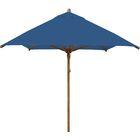 Levante 10' X 7' Rectangular Market Umbrella Fabric: Blue