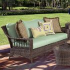 Satterwhite Loveseat with Cushions Color: Canvas Crimson