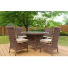 Wilkinson 5 Piece Dining Set with Cushion Color: Sand