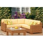 St George 5 Piece Sectional with Cushion Color: Cast Oasis