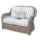 Britt Loveseat with Cushion Color: Pool