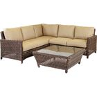 Wilkinson 5 Piece Sectional with Cushion Color: Sand
