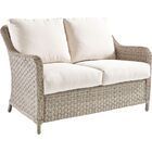 Keever Loveseat with Cushion Fabric: Canvas Crimson