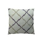 Lyford Purple/Taupe Throw Pillow Size: 12