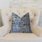 Abstract Plaid Throw Pillow Size: 26