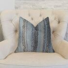 Zigzag Rows Linen Throw Pillow Size: 26