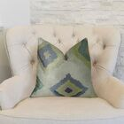 Native Trail Dew Handmade Linen Throw Pillow Size: 20