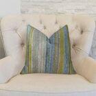 Spoft Strie Cornflower Handmade Throw Pillow Size: 16