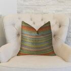 Zig Along Handmade Throw Pillow Size: 20