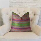 Fuchsia Stripes Throw Pillow Size: 26