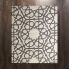 Rose Window Hand-Tufted Wool Gray Area Rug Rug Size: Rectangle 8' x 10'
