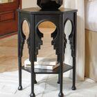 Jacobean End Table Color: Gray