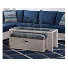 Bali Coffee Table with Bench Color: 0358-88/Bisque