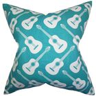 Roxie Geometric Cotton Throw Pillow Color: Turquoise, Size: 24