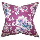 Danique Floral Throw Pillow Color: Purple, Size: 22