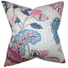 Ahna Floral Throw Pillow Color: Pink, Size: 20