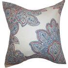 Haldis Floral Linen Throw Pillow Color: Blue, Size: 24